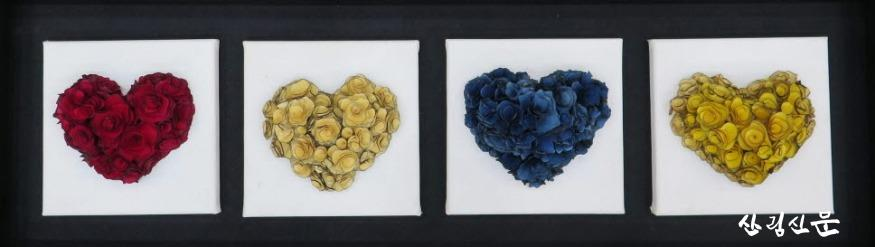 (사진 2) 백운산 나무꽃으로 만든 작품(하트) 입니다..jpg