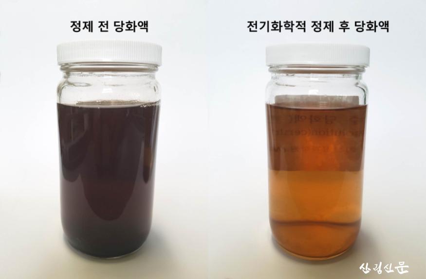 (사진1)전기화학적 처리에 의한 당화액 색상 변화.jpg