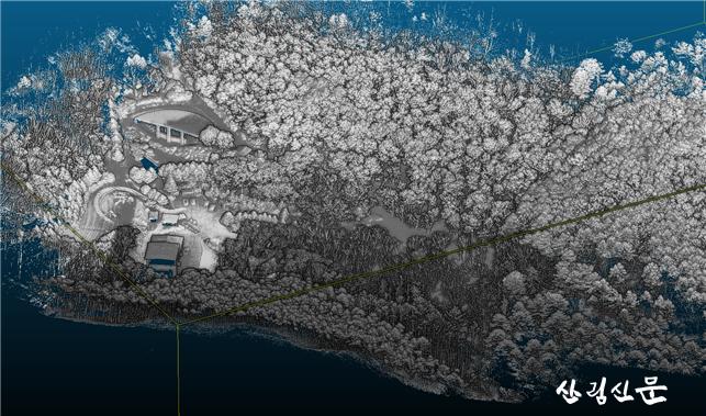 참고자료 3_항공라이다의 산림지역 스캐닝 1.png