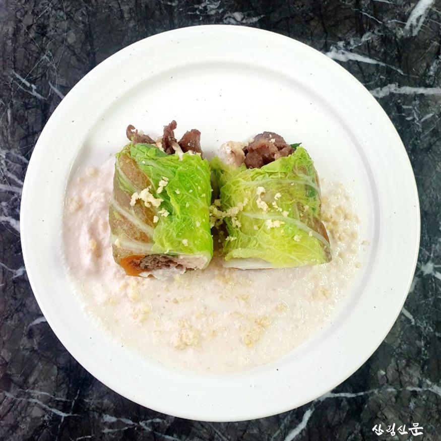 (사진4) 송이버섯 곶감말이와 건강담은  마 소스(진흥원장상, 엄순선).jpg