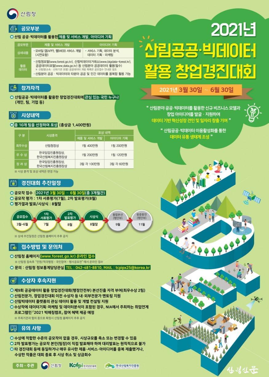 [크기변환]2021년 산림공공 빅데이터 활용 창업경진대회.jpg